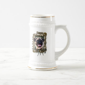 Fathers Day - Stone Paws - Pug - Dad Coffee Mugs
