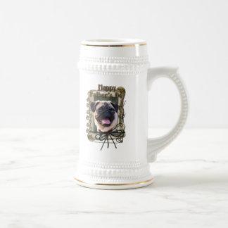 Fathers Day - Stone Paws - Pug Coffee Mug