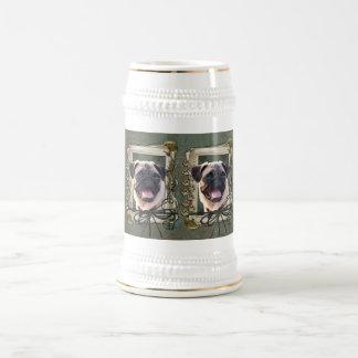 Fathers Day - Stone Paws - Pug Coffee Mugs