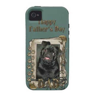 Fathers Day - Stone Paws - Pug - Ruffy Case For The iPhone 4