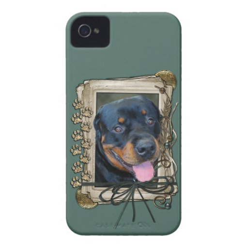 Fathers Day - Stone Paws - Rottweiler - Harley iPhone 4 Cover