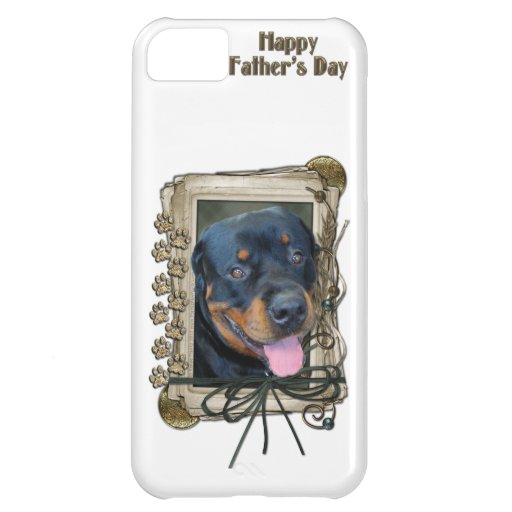 Fathers Day - Stone Paws - Rottweiler - Harley Case For iPhone 5C
