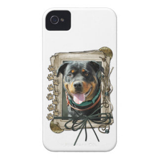 Fathers Day - Stone Paws - Rottweiler - SambaParTi Case-Mate iPhone 4 Cases