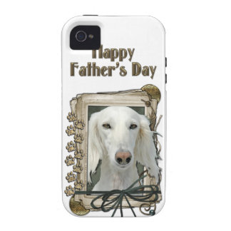 Fathers Day - Stone Paws - Saluki Case-Mate iPhone 4 Covers