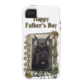Fathers Day - Stone Paws - Schnauzer iPhone 4/4S Covers