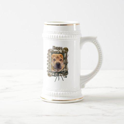 Fathers Day - Stone Paws - Shar Pei Coffee Mug