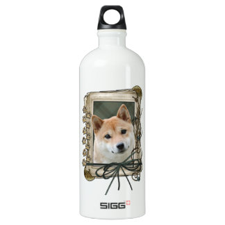 Fathers Day - Stone Paws - Shiba Inu Water Bottle