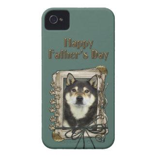 Fathers Day - Stone Paws - Shiba Inu - Yasha iPhone 4 Cover