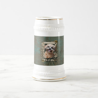 Fathers Day - Stone Paws - ShihPoo - Maggie 18 Oz Beer Stein
