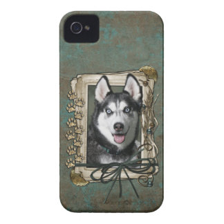 Fathers Day - Stone Paws - Siberian Husky iPhone 4 Covers