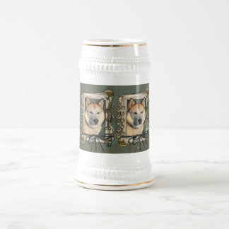 Fathers Day - Stone Paws - Siberian Husky - Copper 18 Oz Beer Stein