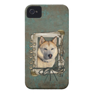Fathers Day - Stone Paws - Siberian Husky - Copper Case-Mate iPhone 4 Cases