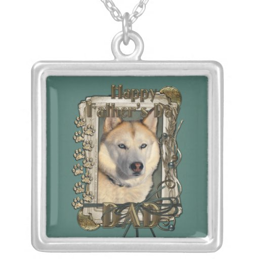 Fathers Day - Stone Paws Siberian Husky Copper Dad Pendant