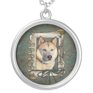Fathers Day - Stone Paws - Siberian Husky - Copper Jewelry