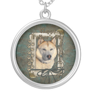 Fathers Day - Stone Paws - Siberian Husky - Copper Pendant