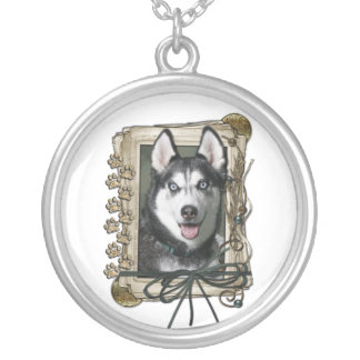 Fathers Day - Stone Paws - Siberian Husky Necklaces