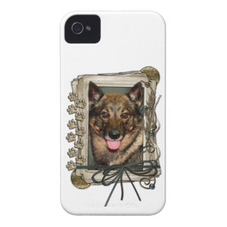 Fathers Day - Stone Paws - Vallhund iPhone 4 Covers