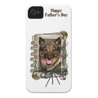 Fathers Day - Stone Paws - Vallhund iPhone 4 Cases
