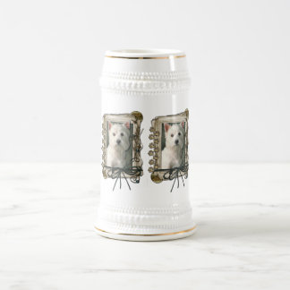 Fathers Day - Stone Paws - Westie 18 Oz Beer Stein