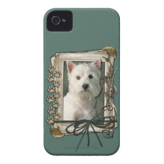 Fathers Day - Stone Paws - Westie iPhone 4 Cases