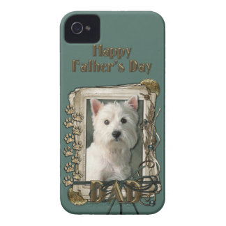Fathers Day - Stone Paws - Westie iPhone 4 Covers