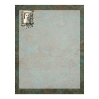 Fathers Day - Stone Paws - Westie Letterhead Template
