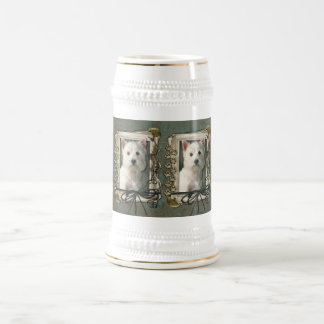 Fathers Day - Stone Paws - Westie Beer Steins