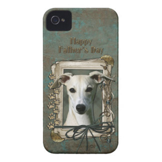 Fathers Day - Stone Paws - Whippet iPhone 4 Case-Mate Case