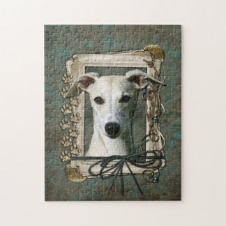 Fathers Day - Stone Paws - Whippet Jigsaw Puzzle