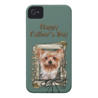 Fathers Day - Stone Paws - Yorkshire Terrier iPhone 4 Covers