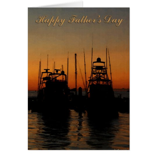 fathers day sunset card