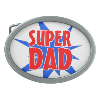 Father's Day Super Dad Belt Buckle