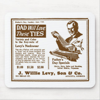 Father's Day Tie ad June 1928 Mouse Pad