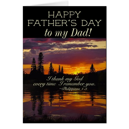 Father's Day to my Dad, Inspirational Bible Verse Card
