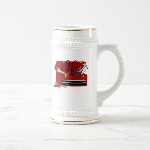 Father's Day Tool Box Initial H Mugs