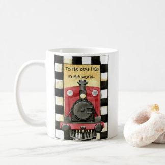 Father's day train Locomotive mug - best dad