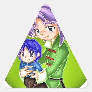 Father's Day Triangle Sticker
