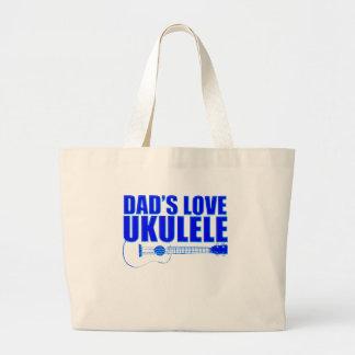 FATHER'S DAY UKULELE LARGE TOTE BAG