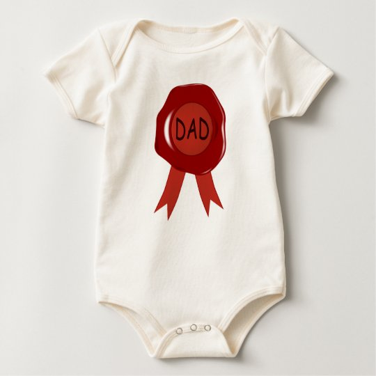 Fathers Day Wax Stamp Baby Bodysuit