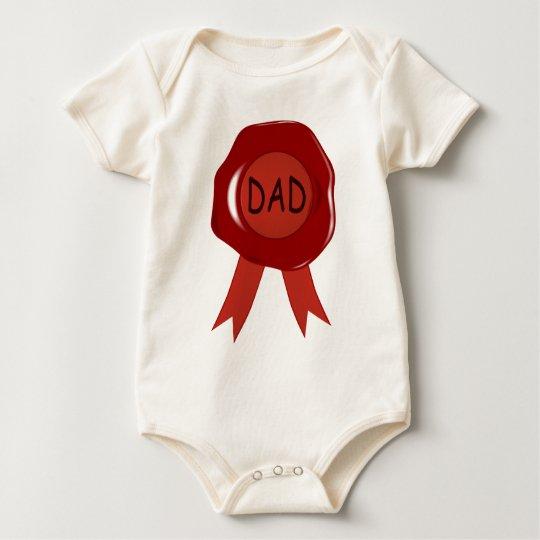 Fathers Day Wax Stamp Baby Bodysuit