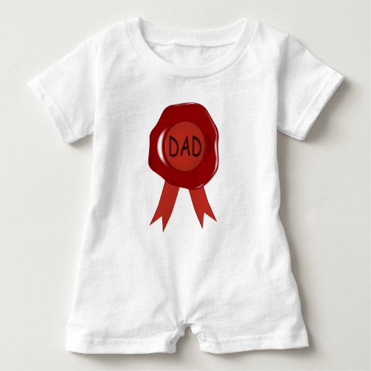 Fathers Day Wax Stamp Baby Romper