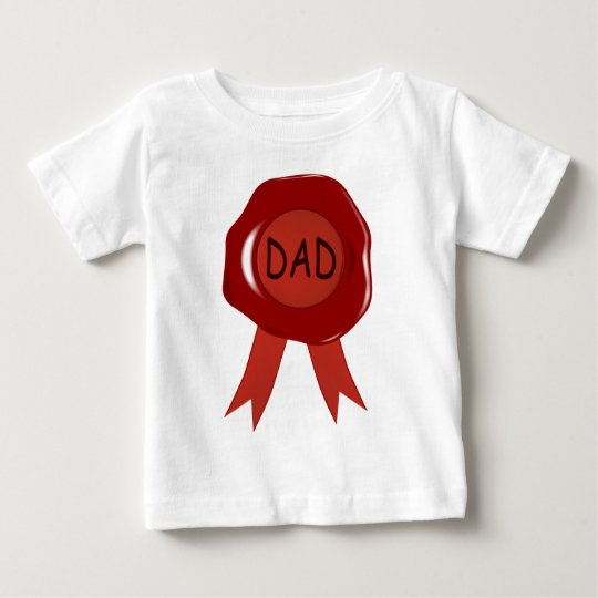 Fathers Day Wax Stamp Baby T-Shirt