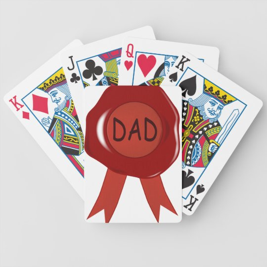 Fathers Day Wax Stamp Bicycle Playing Cards