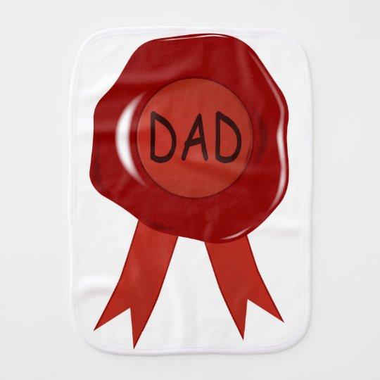 Fathers Day Wax Stamp Burp Cloth