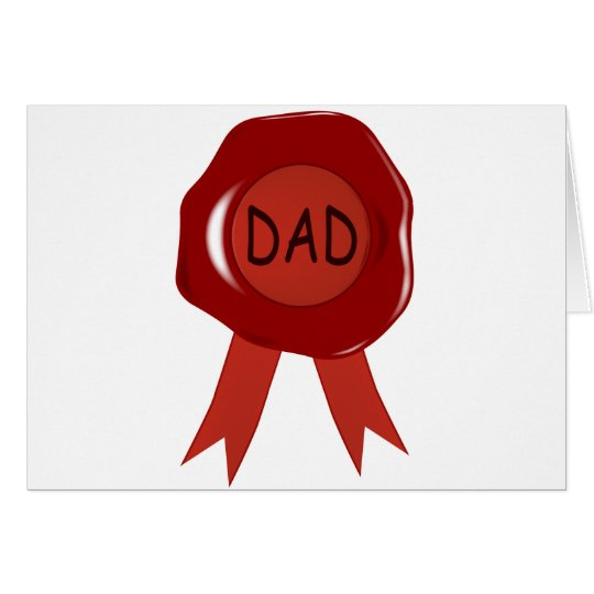 Fathers Day Wax Stamp Card