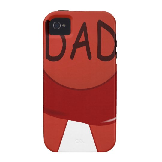 Fathers Day Wax Stamp Case-Mate iPhone 4 Cover