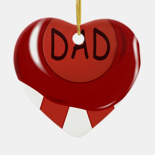 Fathers Day Wax Stamp Ceramic Ornament