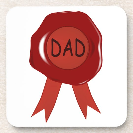 Fathers Day Wax Stamp Coaster