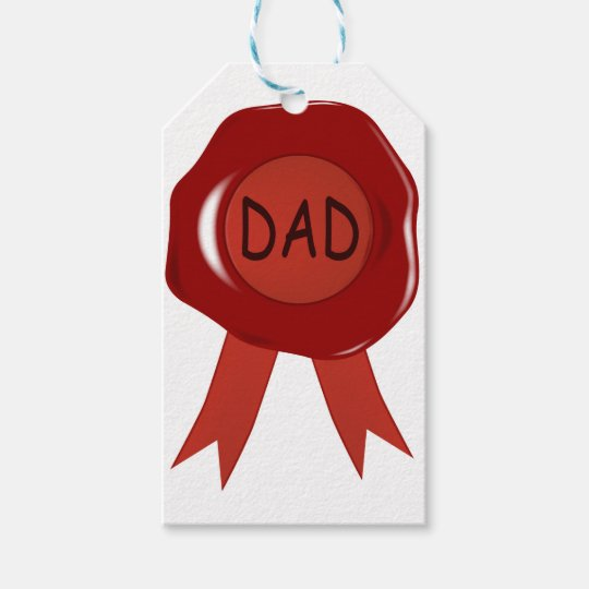 Fathers Day Wax Stamp Gift Tags