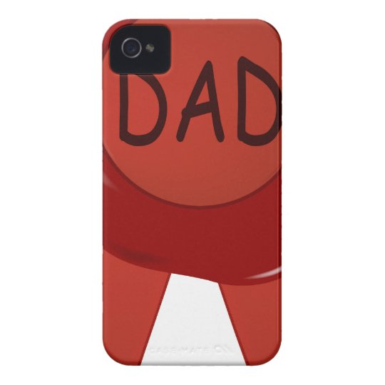 Fathers Day Wax Stamp iPhone 4 Case-Mate Case